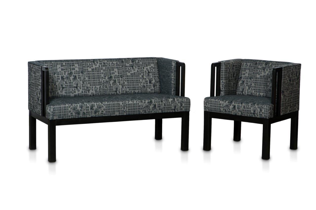 Sofa Lö1920 schwarz mit Sessel